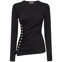 PACO RABANNE top in jersey con bottoni