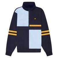 Lyle & scott giacca colour block jk1507v blue