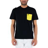 Lyle & scott t shirt contrast pocket ts831v w51 nero giallo