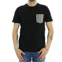 Lyle & scott t shirt contrast pocket ts831v z892 black
