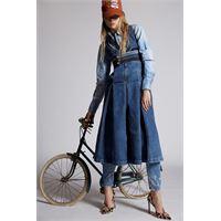 Dsquared2 donna vestito blu taglia 36 98% cotone 2% elastan