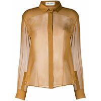 Saint Laurent camicia semi trasparente - toni neutri