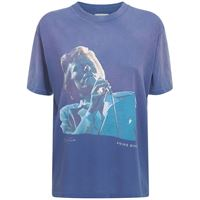 ANINE BING t-shirt ida tee bowie in cotone con stampa