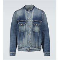 Maison Margiela giacca di jeans senza colletto