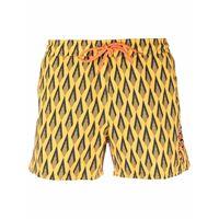 Paco Rabanne shorts ciao paco con stampa - arancione