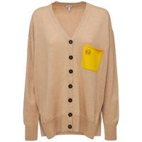 LOEWE cardigan in maglia di lana con logo