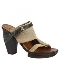 A.S.98 sandali con tacco alto da donna fatti a mano in pelle di vitello grigia cinturino con fibbia 001 grigio