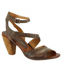 A.S.98 sandali con tacco alto da donna fatti a mano in pelle di vitello testa di moro cinturino alla caviglia 002 testa di moro