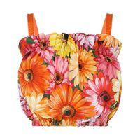 Dolce & Gabbana blusa a fiori crop - verde