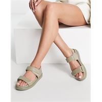 Vagabond - erin - sandali flatform sportivi in pelle verde salvia