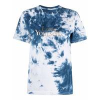 Paco Rabanne t-shirt con fantasia tie dye blu - donna