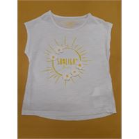 Short sleeve t-shirt with print white tg 6