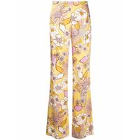 Sandro Paris pantaloni dritti a fiori - giallo
