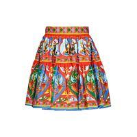 Dolce & Gabbana minigonna in popeline di cotone con stampa