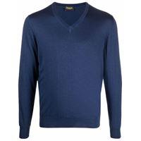 Drumohr maglione con scollo a v - blu