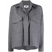 MM6 Maison Margiela camicia con taschino - grigio