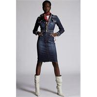 Dsquared2 donna vestito blu taglia 36 98% cotone 2% elastan plastica