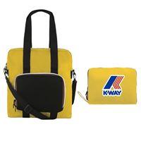 K-Way shopping bag richiudibile k way le vrai 3.0 violette yellow mustard