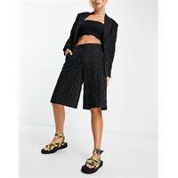 Selected femme - pantaloncini a fondo ampio neri in coordinato-nero