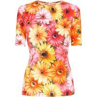 Dolce & Gabbana t-shirt a fiori - verde