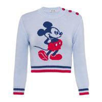Miu Miu maglione miu miu x disney mickey mouse con ricamo - grigio