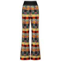 Palm Angels x missoni - pantaloni in maglia di lana