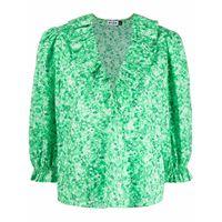 Rixo blusa aaliyah con stampa - verde