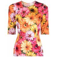 Dolce & Gabbana t-shirt a fiori - giallo