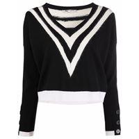 Ports 1961 maglione con scollo a v - nero