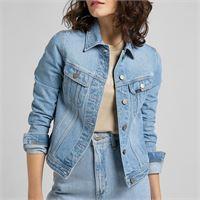 Lee giubbino in jeans con lavaggio stone washed azzurrato