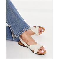 Vagabond - tia - sandali bassi in pelle con cinturino sul tallone, colore bianco sporco
