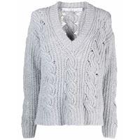 IRO maglione con effetto vissuto - grigio