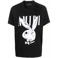 AMIRI t-shirt playboy con logo - nero