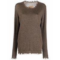 Uma Wang maglione con effetto vissuto - marrone