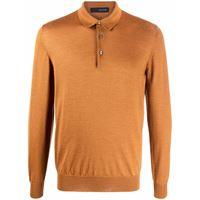 Tagliatore maglione stile polo - giallo