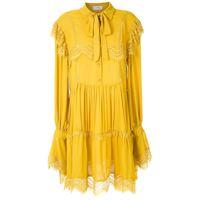 Olympiah abito a maniche lunghe jardin - giallo