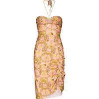 Adriana Degreas abito corto con motivo conchiglia - rosa