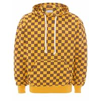 JW Anderson checkerboard hoodie - giallo