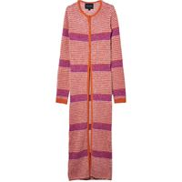 Marc Jacobs cardigan lungo a righe - rosa