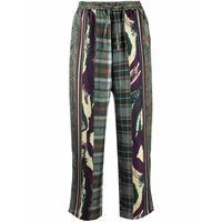 Pierre-Louis Mascia pantaloni crop aloe - verde