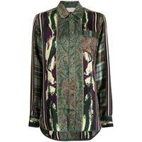 Pierre-Louis Mascia camicia con stampa - verde