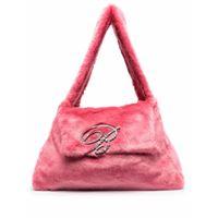 Blumarine borsa a spalla con logo - rosa