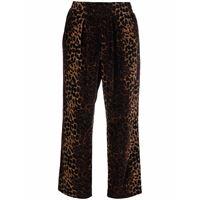 Pierre-Louis Mascia pantaloni crop con stampa - marrone