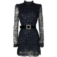 Rebecca Vallance vestito corto celestine con stampa - blu