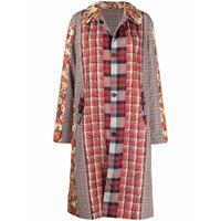 Pierre-Louis Mascia patchwork-design coat - rosso