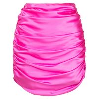 Michelle Mason minigonna con ruches - rosa