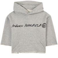 MM6 Margiela bambino - branded felpa con cappuccio grigia - bambina - 14 anni - grigio