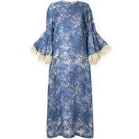 Bambah abito con dettaglio a contrasto camelia - blu