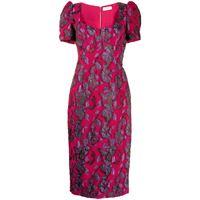 Rebecca Vallance abito midi kassia - rosa