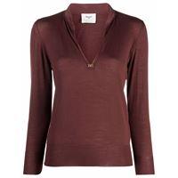 Bally maglione con spacco - rosso
